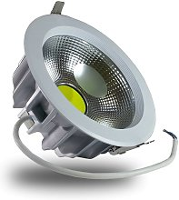 V-tac - DownLight LED COB 30W 220mm 3000K Luz