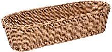 Vacchetti - Cesta de polirratán natural ovalada,
