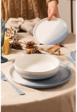 Vajilla de Porcelana 12 piezas Mar Celeste - Azul