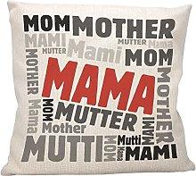 vanVerden Cojín con texto en alemán – Mama
