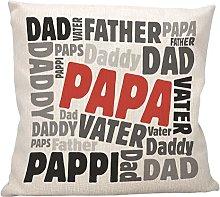 vanVerden Cojín con texto en alemán – Papa