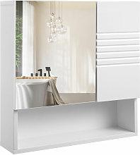 VASAGLE Mueble de Baño con Espejo, Armario de