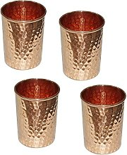 Vaso martillado de cobre puro para la curación de
