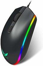 VEED Button Mover, ratón para Juegos con Cable