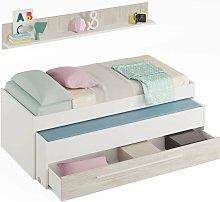 Velocimuebles - Cama nido con cajón + estante