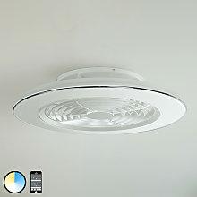 Ventilador de techo Alisio, LED, app, blanco