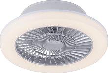 Ventilador de techo diseño gris LED - MAKI