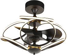 Ventilador de techo diseño negro mando-distancia