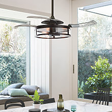 Ventilador de techo Fanaway Classic con luz, negro