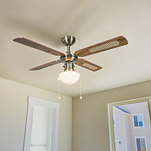 Ventilador de techo industrial 100cm madera - WIND