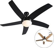 Ventilador de techo negro mando-a-distancia - COOL