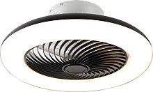 Ventilador de techo negro mando-distancia LED -