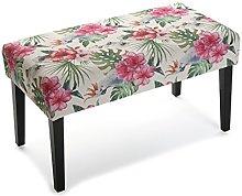 Versa 21350150 Taburete pie de cama Flores 4,