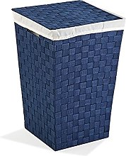 Versa, cesto ropa azul, linea baño, cestos de ropa
