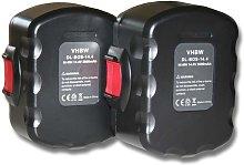 vhbw 2x batería compatible con Strapex STB65