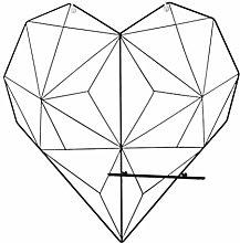 VICASKY Forma de Corazón Panel de pared para