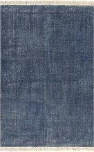 vidaXL Alfombra de algodón Kilim 120x180 azul