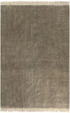 vidaXL Alfombra de algodón Kilim 120x180 gris