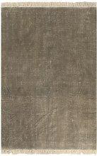 vidaXL Alfombra de algodón Kilim 120x180 gris topo