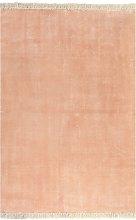 vidaXL Alfombra de algodón Kilim 120x180 rosa