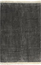 vidaXL Alfombra de algodón Kilim 160x230 cm gris
