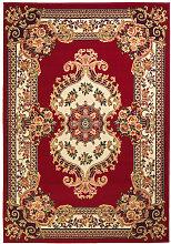 vidaXL Alfombra oriental roja/beige 160x230 cm