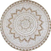 vidaXL Alfombra redonda 150 cm yute trenzado