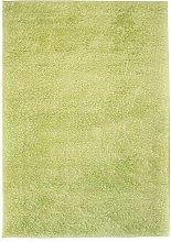 vidaXL Alfombra shaggy peluda 140x200 cm verde