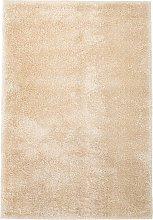 vidaXL Alfombra shaggy peluda 160x230 cm beige