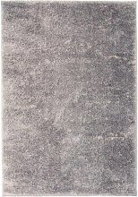 vidaXL Alfombra shaggy peluda 160x230 cm gris