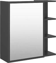 vidaXL Armario con espejo de baño aglomerado gris