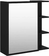 vidaXL Armario con espejo de baño aglomerado