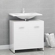 vidaXL Armario cuarto de baño aglomerado blanco