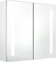 vidaXL Armario de baño con espejo LED blanco