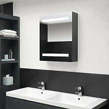 Vidaxl - Armario de baño con espejo LED gris