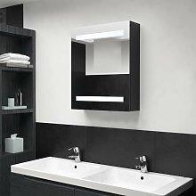 Vidaxl - Armario de baño con espejo LED negro