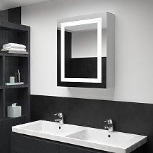 vidaXL Armario de cuarto de baño con espejo y LED