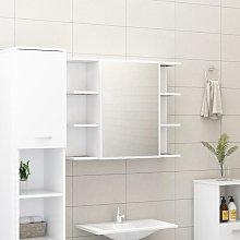 vidaXL Armario de espejo de baño aglomerado