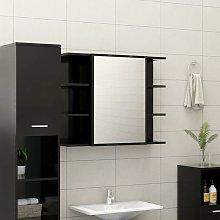 Vidaxl - Armario de espejo de baño aglomerado