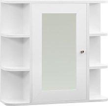 vidaXL Armario de espejo de baño MDF blanco
