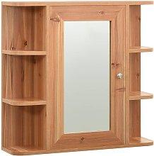 vidaXL Armario de espejo de baño MDF color roble