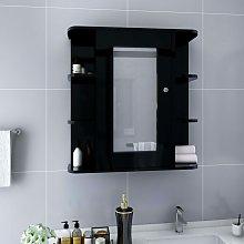 Vidaxl - Armario de espejo de baño MDF negro