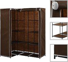 vidaXL Armario de esquina marrón 130x87x169 cm