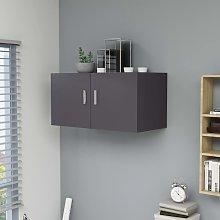 vidaXL Armario de pared aglomerado gris 80x39x40 cm
