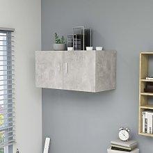 vidaXL Armario de pared aglomerado gris hormigón