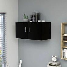 vidaXL Armario de pared aglomerado negro 80x39x40