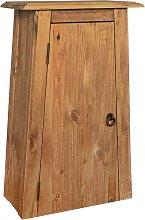 vidaXL Armario de pared cuarto baño madera
