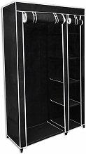 vidaXL Armario de Tela Plegable Negro - Negro