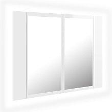 vidaXL Armario espejo de baño luz LED blanco