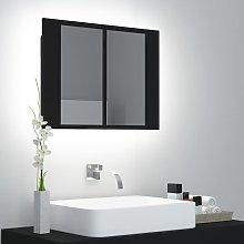 Vidaxl - Armario espejo de baño luz LED negro